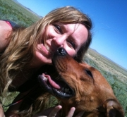 Sandy & Lucy in Wyoming
