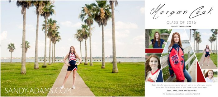 League City Clear Lake High School Cheer senior portrait photographer Sandy Adams_0028