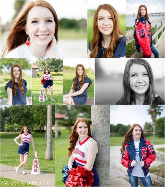 League City Clear Lake High School Cheer senior portrait photographer Sandy Adams_0029