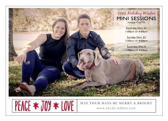 2015 Holiday Mini Sessions League City Sandy Adams Photography