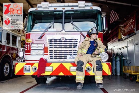 Brent Cockerham BB&T Bank Baywood Crossing heart throb Go red For Women Houston League City Portrait Photographer Sandy Adams Photography